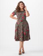 Leopard Rose Dress - Plus - 6