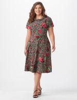 Leopard Rose Dress - Plus - 5