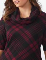 Plaid Cowl Neck Dress - Plus - 5