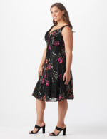Floral Lace Fit and Flare Dress  - Plus - 4