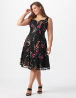 Floral Lace Fit and Flare Dress  - Plus - 6