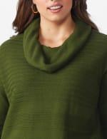 Westport Ottoman Stitch Curved Hem Sweater - Plus - 5