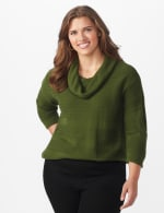 Westport Ottoman Stitch Curved Hem Sweater - Plus - 6