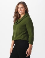 Westport Ottoman Stitch Curved Hem Sweater - Plus - 4