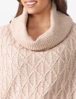 Westport Novelty Yarn Poncho Sweater - Plus - 4