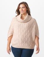 Westport Novelty Yarn Poncho Sweater - Plus - 5