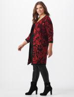 Roz & Ali Jacquard Duster Sweater - Plus - 4