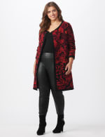 Roz & Ali Jacquard Duster Sweater - Plus - 6