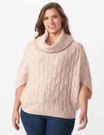 Westport Novelty Yarn Poncho Sweater - Plus - 6