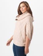 Westport Novelty Yarn Poncho Sweater - Plus - 3