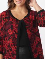 Roz & Ali Jacquard Duster Sweater - Plus - 5