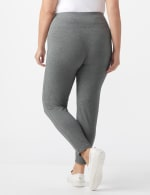 Tummy Control Legging - Plus - Heather Grey - Back