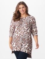 Roz & Ali Eyelash Animal Tunic Sweater - Multi - Front