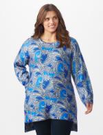 Roz & Ali Paisley Eyelash Tunic Sweater - Plus - 6