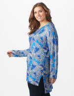 Roz & Ali Paisley Eyelash Tunic Sweater - Plus - 4
