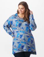 Roz & Ali Paisley Eyelash Tunic Sweater - Plus - 7