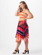 Sleeveless Striped Colorful Dress - Plus - 4