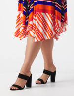 Sleeveless Striped Colorful Dress - Plus - 5