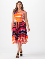 Sleeveless Striped Colorful Dress - Plus - 6
