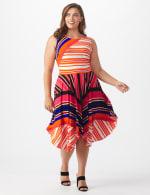 Sleeveless Striped Colorful Dress - Plus - 7