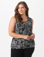 Westport Paisley Mesh Tiered Knit Top - Plus - 6