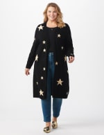Roz & Ali Scattered Star Duster - Plus - Black/White - Front