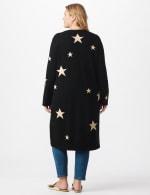 Roz & Ali Scattered Star Duster - Plus - Black/White - Back