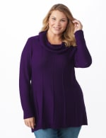 Cowl Neck Fit & Flare Sweater - 5