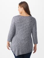Westport Space Dye Sweater Knit Tunic - Navy - Back
