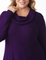 Cowl Neck Fit & Flare Sweater - 4