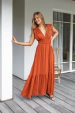 Phobe Dress - Cayenne - Front