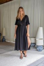 Savannah Dress - Black - Front