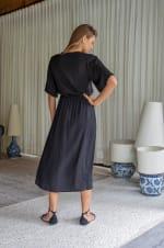 Savannah Dress - Black - Back