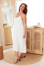 Curve Aesop Dress - Plus - White - Back