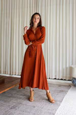 Eden Dress - Cayenne - Front