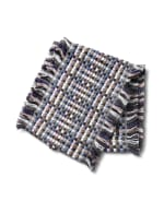 Basketweave Infinity Scarf - Blue Combo - Back