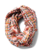 Basketweave Infinity Scarf - Multi Combo - Front