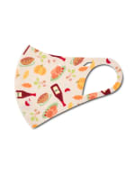 Happy Thanksgiving Anti-Bacterial Fashion Face Mask - Multi - Detail