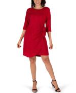 Faux Wrap Knit Dress - 9