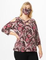 Burgundy Bohemian Fashion Mask - 7