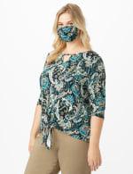 Teal Bohemian Fashion Mask - 4