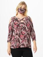 Burgundy Bohemian Fashion Mask - 6
