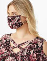 Burgundy Bohemian Fashion Mask - 5
