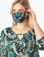 Teal Bohemian Fashion Mask - 5