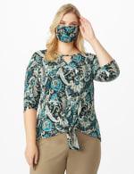 Teal Bohemian Fashion Mask - 6