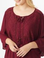 Westport Crochet Yoke Peasant Blouse - Plus - 4