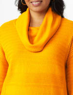 Westport Ottoman Stitch Curved Hem Sweater - 11