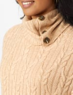 Westport Cable Poncho Sweater - 11