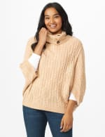 Westport Cable Poncho Sweater - 12