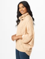 Westport Cable Poncho Sweater - 10